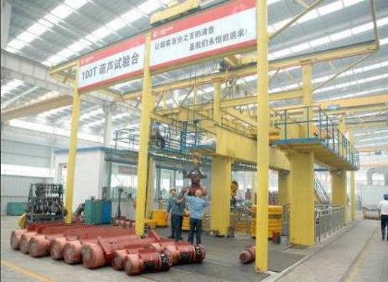 西起电动葫芦生产设备展示:电动葫芦试验台