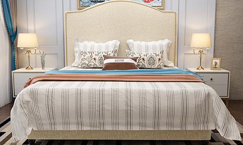 西安布艺床