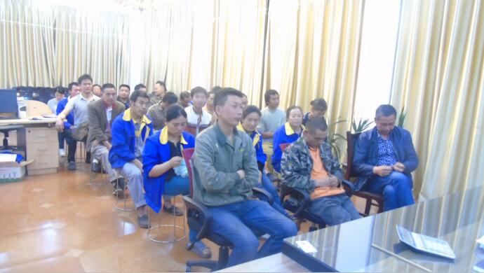 简阳市金利钢结构工程有限公司员工培训展示