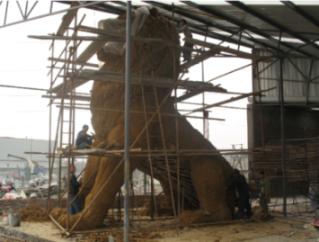 四川城市雕塑制作施工现场
