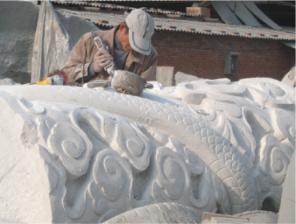 四川石雕制作施工现场