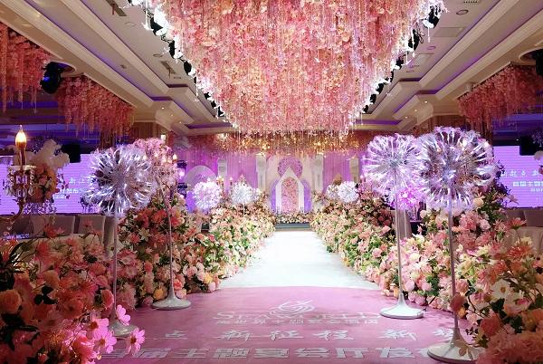 粉色浪漫主题婚礼