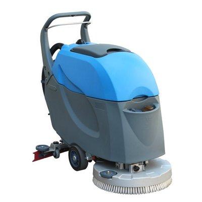 如何使用手推式洗地机来清洁环氧地坪