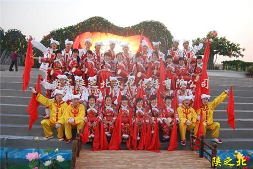 第三届滁州农民歌会腰鼓演出