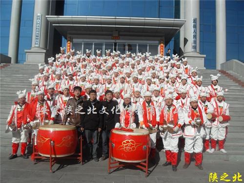山西阳泉市盂县元宵节腰鼓演出