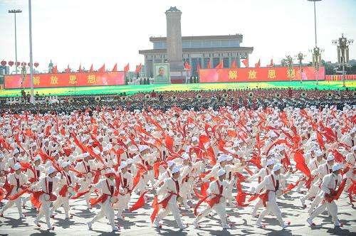 北京天安门广场表演