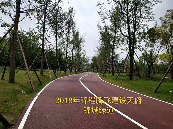 成都彩色沥青道路工程案例