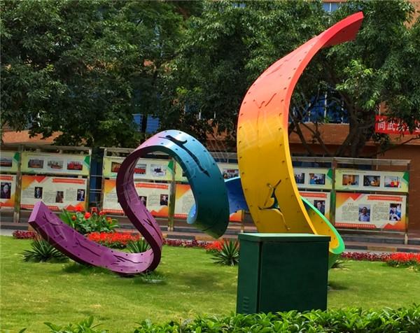 四川抽象造型雕塑客户见证