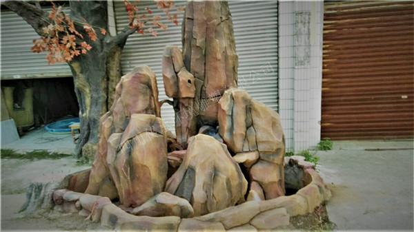 四川假山假树成功案例