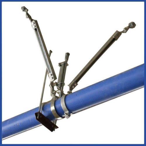 矩形风管侧向抗震支架(使用空调、防排烟管道)