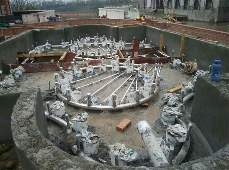 成都喷泉现场施工