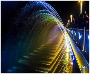 原来四川音乐喷泉还能够使用声音控制