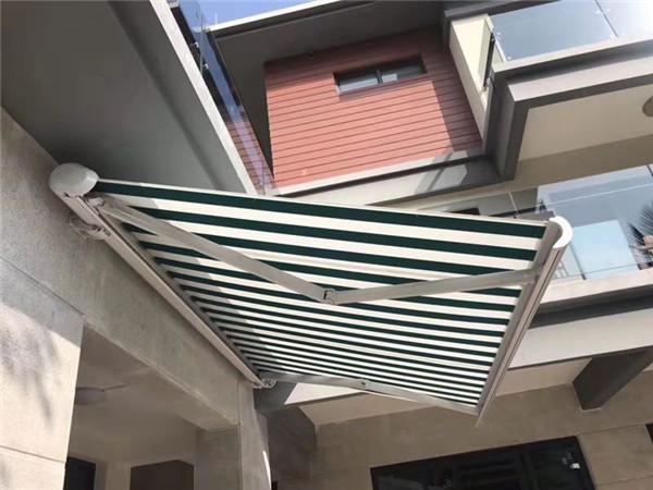 西安遮阳棚-白色全盒高档伸缩篷