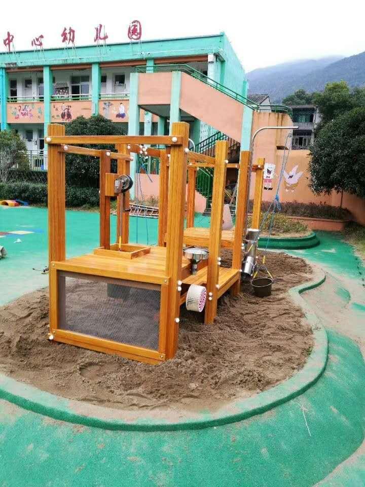 幼儿园户外玩具-沙池组合