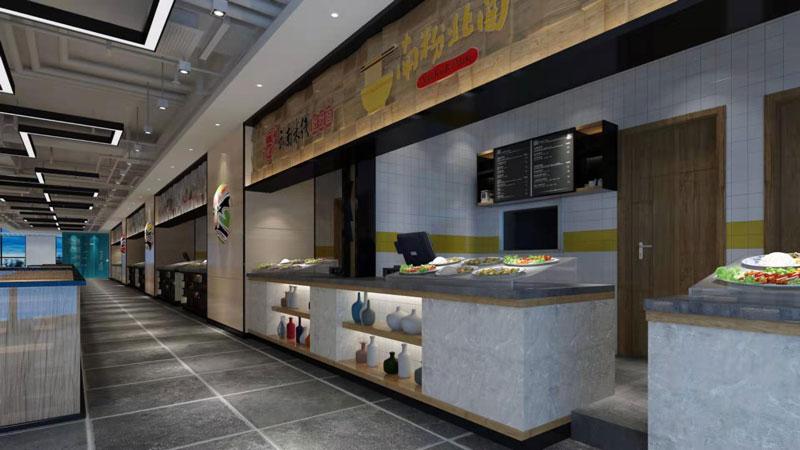 我公司为悦安美食城装修效果展示