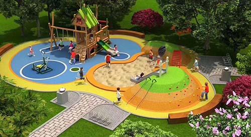 我公司为西安幼儿园户外玩具厂家进行装修