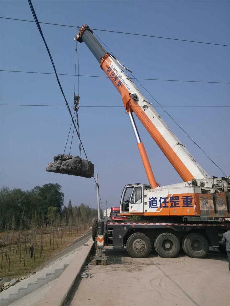 宜昌风景石吊装