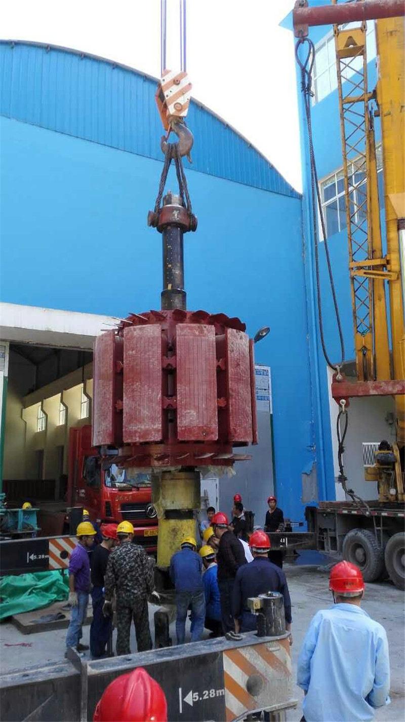 水电站转子定子高精度吊装