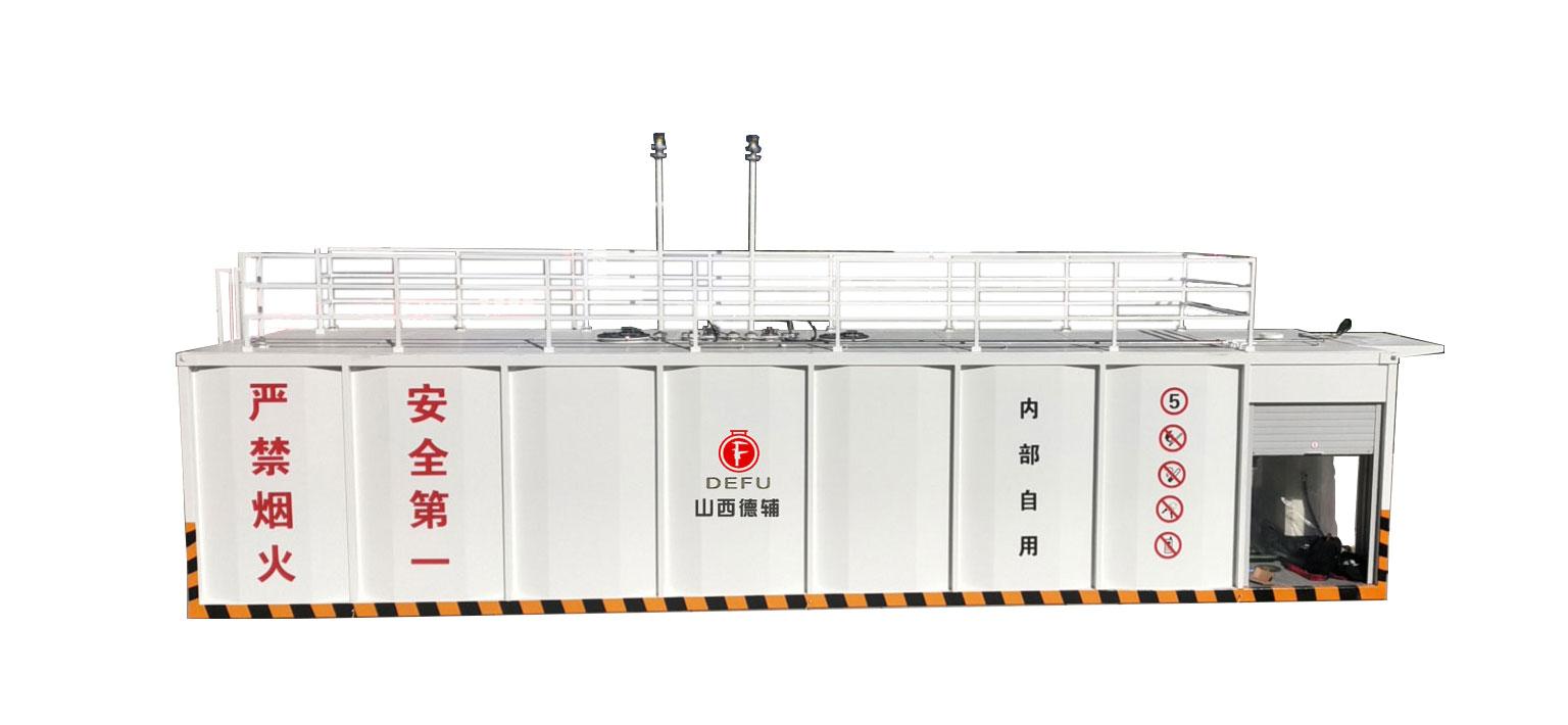 40立方双机双仓撬装加油装置