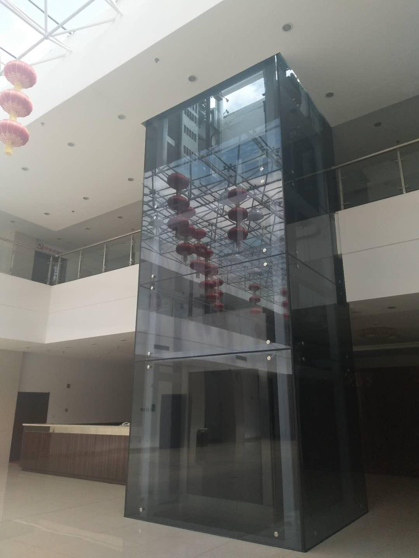 内蒙政府小院旋转门及观光电梯安装