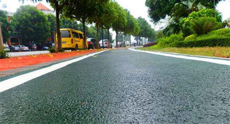彩色沥青路面制作