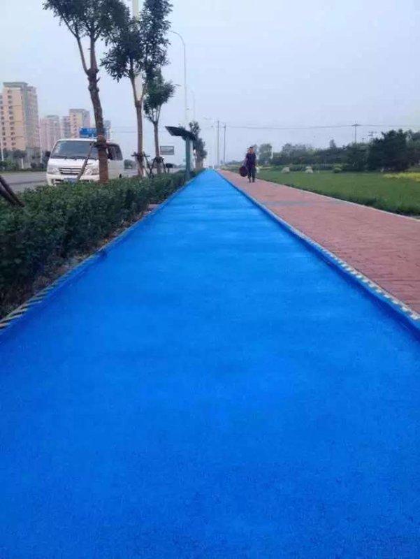 相比较普通沥青,彩色沥青具有的优势更适合路面建设所需
