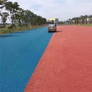 湖北彩色沥青路面铺设
