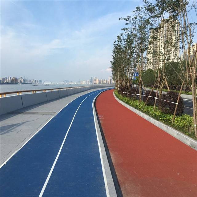 彩色沥青路面施工效果