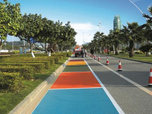 彩色沥青路面施工材料批发价格