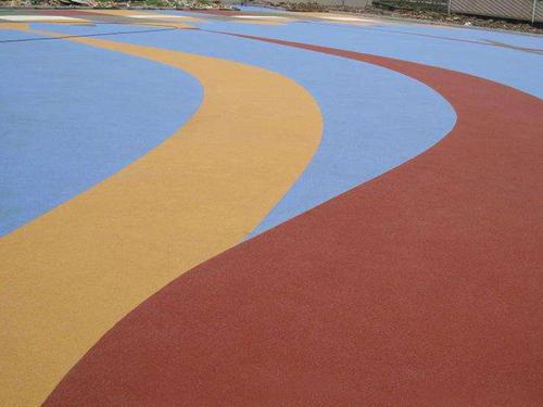 彩色沥青铺设