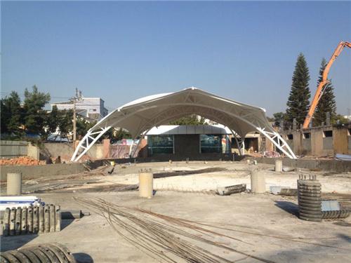 西昌温泉膜结构遮阳顶棚