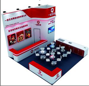 火锅食材展展位设计搭建-一起生活