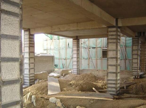 襄阳建筑加固施工现场