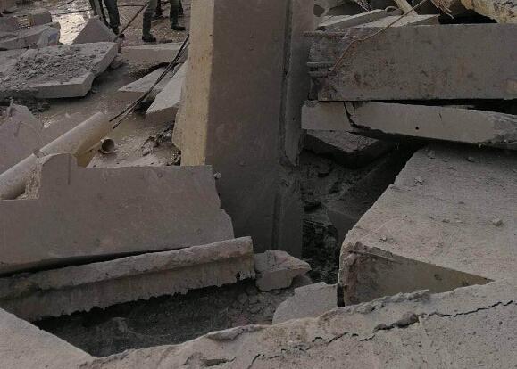 襄阳建筑拆除现场