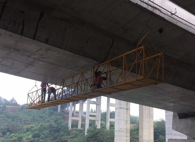 宜昌桥梁建筑维修加固施工现场