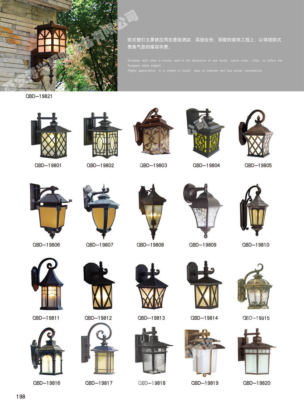 歐式牆壁燈