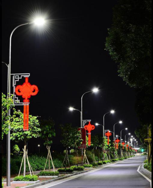 中国结太阳能路灯