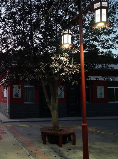 银川幼儿园庭院灯升级