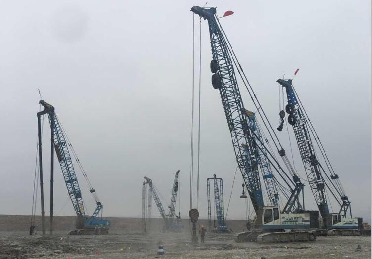 天府國際機場地基處理及土石方工程強夯沖擊碾壓