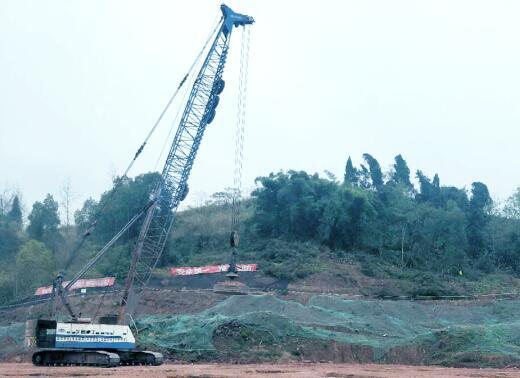 內江市生活垃圾處理中心(填埋場)建設項目地基強夯工程
