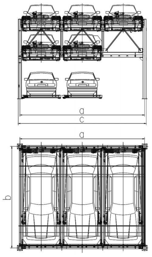 西安升降横移式车库设计