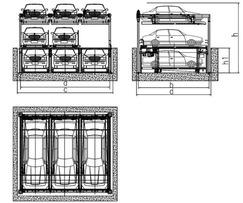 西安升降横移式车库安装