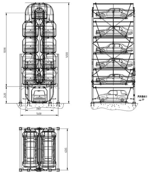 西安立体停车库设计