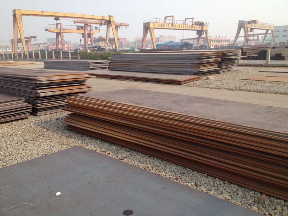耐候钢板生产图片