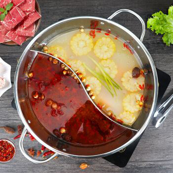 厨房用具店-鸳鸯火锅盆