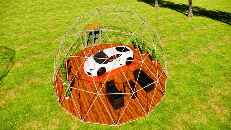 豪巨源10米球型帐篷