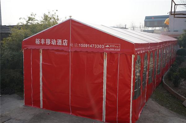 宝鸡客户订做的45米钢铝流动酒店帐篷