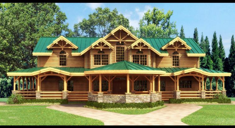 内蒙古圆木木屋