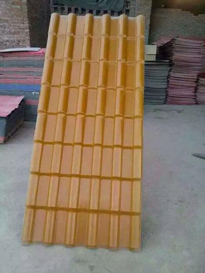 榆林合成树脂瓦型号(黄色)