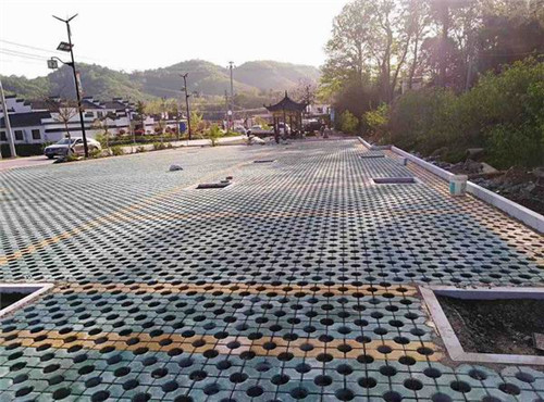 信阳植草砖厂家合作施工案例
